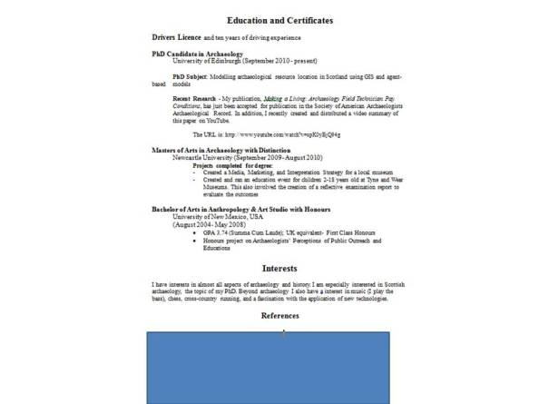 2nd page example CV Doug RM