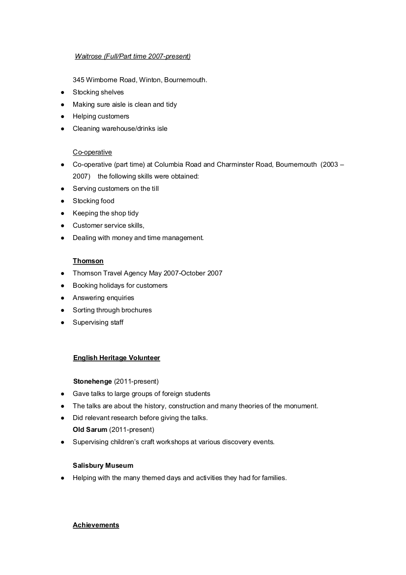Tips for an Archaeology Resume CV if you just graduated or are Doug s ...