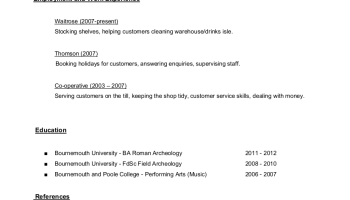Revisiting The Archaeology ResumeCV Dougs Archaeology - Resume me